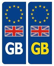2 x GB Euro Number Plate Sticker EU European with UK FLAG Car Vinyl  UK BN S2082