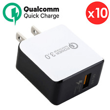10x OEM Fast Charging USB Qualcomm 3.0 Wall Charger Adapter For Samsung iPhone