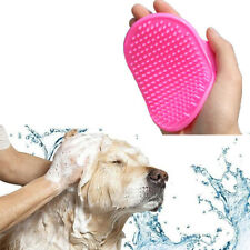 Dog Cat Pet Grooming Shower Bath Brush Massage Comb Anti Skid Rubber Silicone