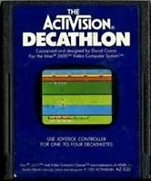 DECATHLON (ACTIVISION) - Original Atari 2600 Game Authentic