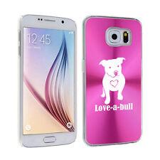 For Samsung Galaxy S7 S4 S5 S6 Edge + Hard Case Cover Love-a-bull Pitbull Love