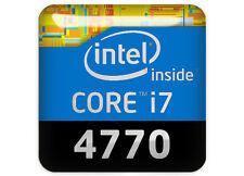 "Intel Core i7 4770 1""x1"" Chrome Domed Case Badge / Sticker Logo"