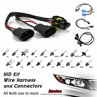 Two Xenon HID Kit Replacement Bulb Ballast 's Extension wires & Connectors H11