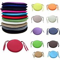 ROUND CIRCULAR CHAIR CUSHION SEAT PADS Kitchen Dining REMOVABLE COVER NEW