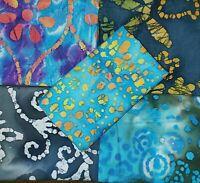 Batik Fat Quarter #B29 | Face Mask Fabric | Precut Quilting Cotton | Set of 5