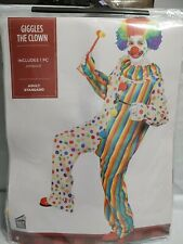 Adult Clown Jumpsuit Halloween Costume Size Standard Funny Circus Colorful #902