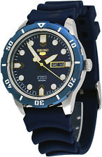 Seiko 5 Sports SRP677J2 Men's Blue Rubber Band Blue Dial 100M Automatic Watch