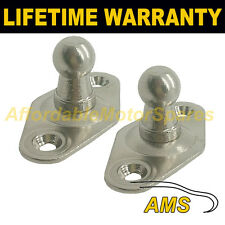 PAIR GAS STRUT END FITTINGS 10MM BALL PIN + BRACKET SILVER MULTI FIT GSF9