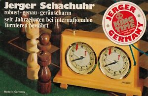 JERGER OLYMPIA mechanische Schachuhr Holzgehäuse Turnierbewährt