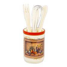 """10"""" Ceramic Utensils Jar with a Set of Kitchen Utensils."""
