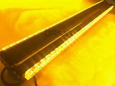"""900MM 35"""" 216W LED WORK LIGHT BAR EMERGENCY BEACON WARNING STROBE LIGHT AMBER"""