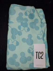 LuLaRoe TC2 Disney Mickey Mouse Seafoam Green Leggings- New!