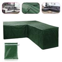 L Shape Corner Furniture Sofa Rattan Cube Waterproof Cover Outdoor Garden Patio