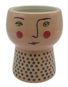 "Opalhouse Stoneware 4"" Woman's Face Planter Vase - PEACH"