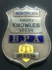 Horse Racing Bookmakers Protection Association Enamel Badge Leeds Harry Knowles