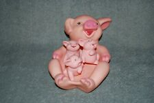 vintage bathtub float toys Mama Pig And Piglets rubber