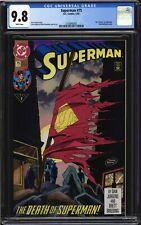 Superman #75 - CGC 9.8 - WP - Death of Superman 1st Print