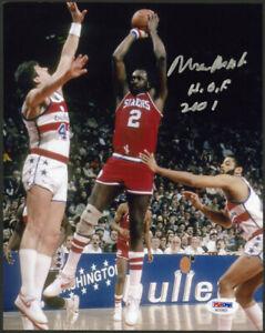 Moses Malone SIGNED 8x10 Photo + HOF 2001 Philadelphia 76ers PSA/DNA AUTOGRAPHED