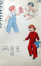 *LOVELY VTG 1950s KIDS OVERALLS & JACKET Sewing Pattern 1/2