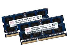 2x 4gb 8gb KIT ddr3 1333 MHz Notebook così DIMM RAM pc3-10600s Laptop 1.5v Hynix