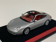 1/43 Minichamps Porsche 911 ( 996 ) Targa in Silver on Leather base A1034