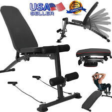 Foldable Weight Bench Adjustable Incline Decline Workout Fitness Training Bench