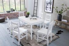 Finebuy EMILIO Esstisch mit 6 Stühlen - Weiß (SuVa11664_1)