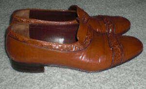 Vintage Donelli Italian Leather Slip On Shoes UK 8