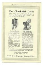 A 1925 Photgraphic/Camera Advertisment - Kodak Cine Outfit + Velox Paper.