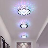 LED Kristall Stoßfest Deckenlampe Kronleuchter Licht Wohnzimmer Korridor 6W/12W