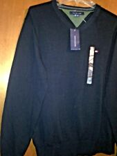 ****NWT NEW MED TOMMY HILFIGER SPORT VNECK CREW RUGBY PullOver Dress Polo Shirt