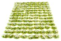 White flowers x117 tufts - Self adhesive static model scenery
