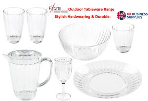 "Fixtures ""Roma"" Outdoor Tableware Range 2L jug,Wine Glasses,Tumblers,Plate,Bowl"