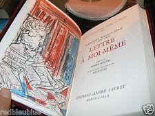 """Françoise MALLET-JORIS """"Lettre à moi-même"""" lithos de COTTAVOZ 1973 Monaco 1/3000"""