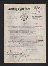 DRESDEN, Brief 1939, Dresdner Handelsbank AG