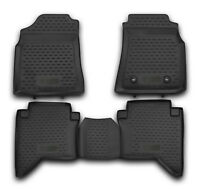 Tailored Rubber Floor Mats Tray 3D Heavy Duty for TOYOTA HILUX DOUBLE CAB 08 ON