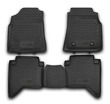 Tailored Rubber Floor Mats Tray 3D Heavy Duty for TOYOTA HILUX DOUBLE CAB 08-16