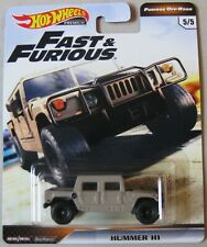 Hot Wheels Premium Fast & Furious HUMMER H1 withREAL RIDERS