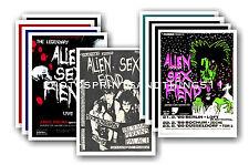 ALIEN SEX FIEND  - 10 promotional posters - collectable postcard set # 1