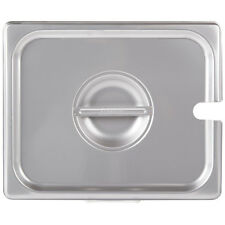 1/2 Size Slotted Stainless Steel Restaurant Steam Table / Hotel Pan Lid Cover
