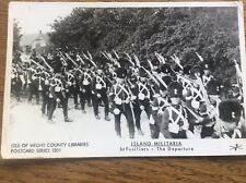 IOW Isle Of Wight County Libraries Postcard Military 1st Fusiliers Departure