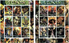 Titans Super Heroes on Stamps - Set of 2 Sheets with 9 Stamps 6226-7