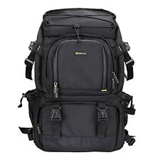 Extra Large DSLR Camera/Laptop Travel Backpack Gadget Bag w/ Rain Cover  Black