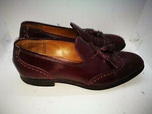Church burgundy leather shoes uk 9