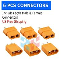3 Pairs XT60 Male & Female Bullet Connectors Plugs For RC  Lipo Battery M412