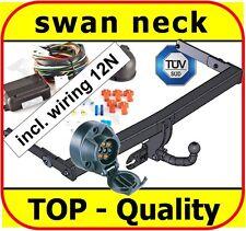 Towbar & Electrics 7pin 12N VW Passat B6 Saloon Estate 2005 to 2011 / swan neck