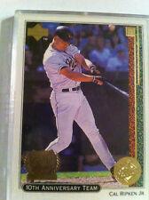 1999 Upper Deck 10th Anniversary Team Cal Ripken Baltimore Orioles #X5...