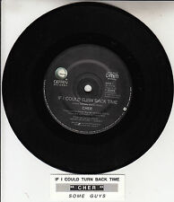 "CHER  If I Could Turn Back Time & Some Guys 7"" 45 record + juke box title strip"