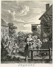 Hogarth Print Reproduction: Evening from Four Times of the Day: Fine Art Print