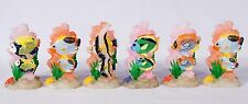 "Painted Decorative Wax Art Candle Sculpture Tropical Fish 5.5"" (Set of 6) 23T"